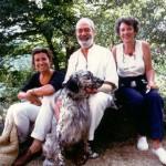 Con Tiziano ed Angela Terzani ed il mio cane Ralfone all'Orsigna