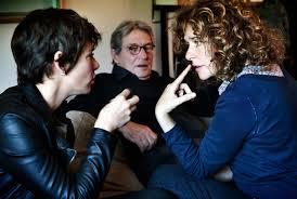 Valeria Golino (a destra) con Jasmine Trinca e Carlo Cecchi