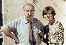 Giorgio Manganelli con la figlia Lietta