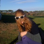 Giovanna in una foto buffa