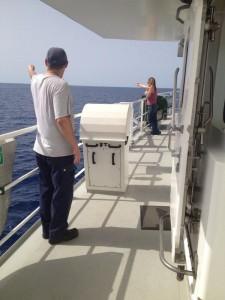 """Esercitazione """"uomo in mare"""" (foto Sandra Petrignani)"""