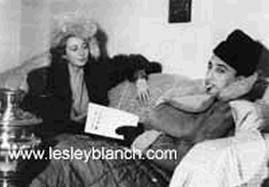 Con la prima moglie, Lesley Blanch