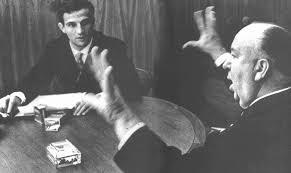 Truffaut con Hitch durante l'intervista