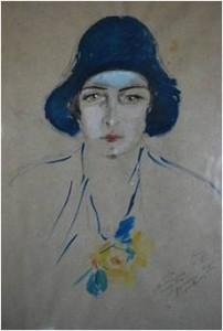 Paola Masino in un ritratto di De Pisis