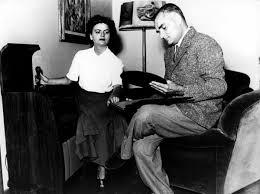 Elsa Morante con Alberto Moravia